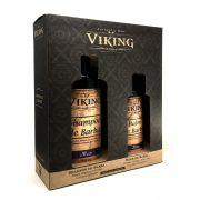 Kit Shampoo e Balm Para Barba - Mar - Viking