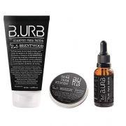 Kit Shampoo Óleo e Cera Para Barba - Black - Barba Urbana