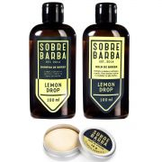 Kit Viagem Shampoo e Balm de Barba Lemon Drop e Cera de Bigode Jungle Boogie - Sobrebarba