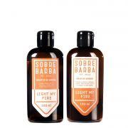 Kit Viagem - Shampoo e Balm de Barba Light My Fire - Sobrebarba