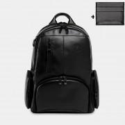 Mochila Para Notebook Nordweg De Couro Legítimo - Black Edition - NW072B