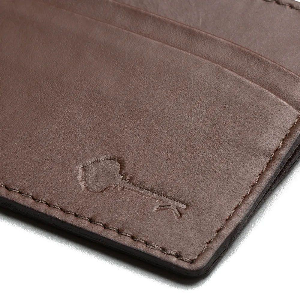 Carteira Porta Cartões Couro Wallet Harrison - Brown - Key Design
