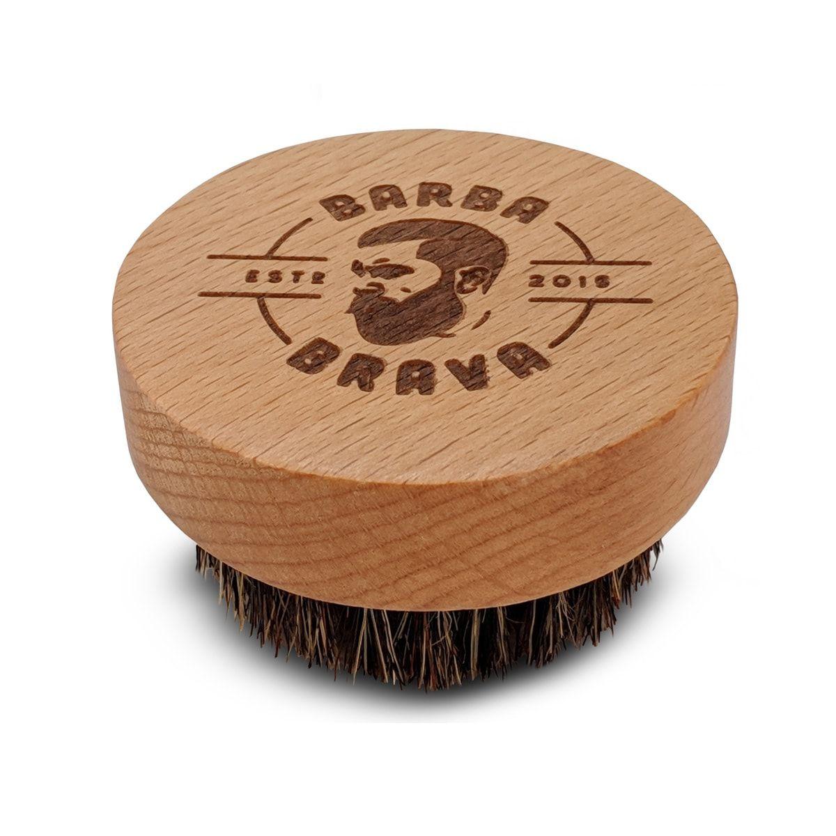 Escova de Madeira Para Barba Cerdas Naturais - Barba Brava
