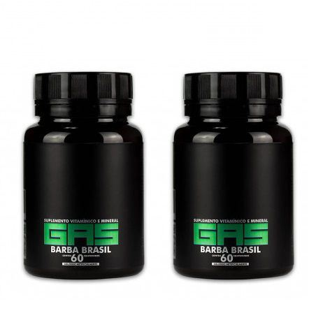 Gas - 120 caps - Suplemento Capilar Para Crescimento Barba e Cabelo - Barba Brasil