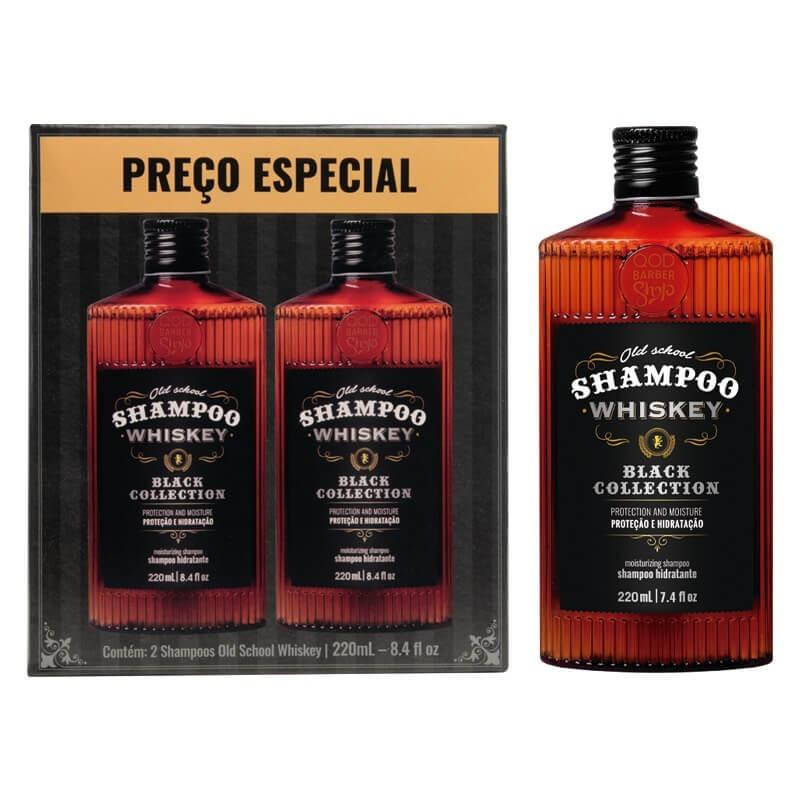 Kit - 2 Shampoo Cabelo e Barba Old School Whiskey - QOD Barber Shop