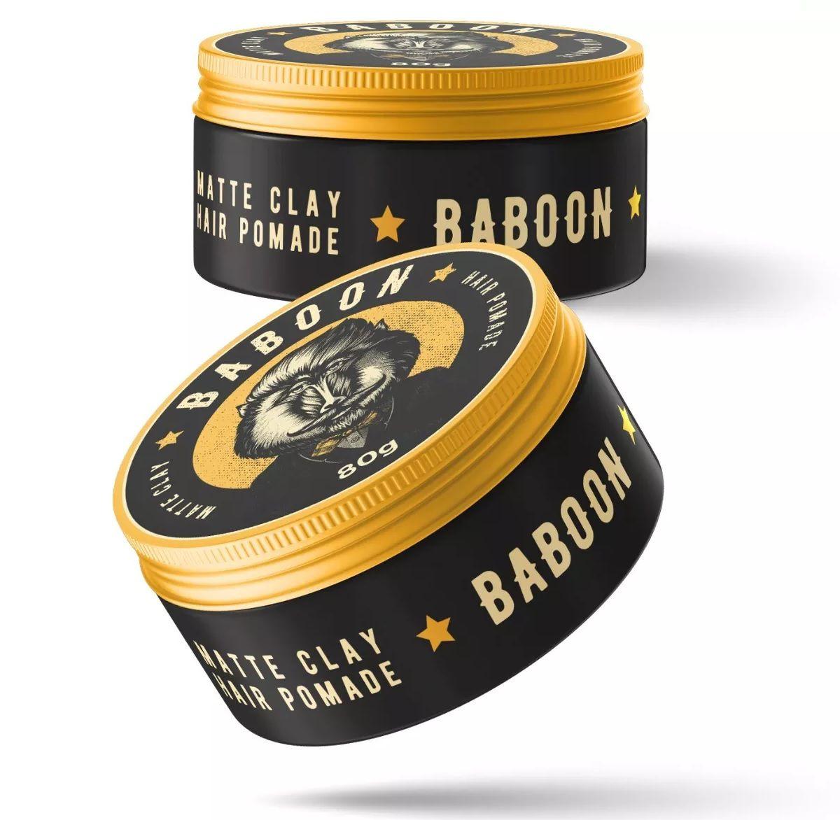 Kit Dupla Baboon Pomadas - Matte Clay + Ultra Hold - Baboon