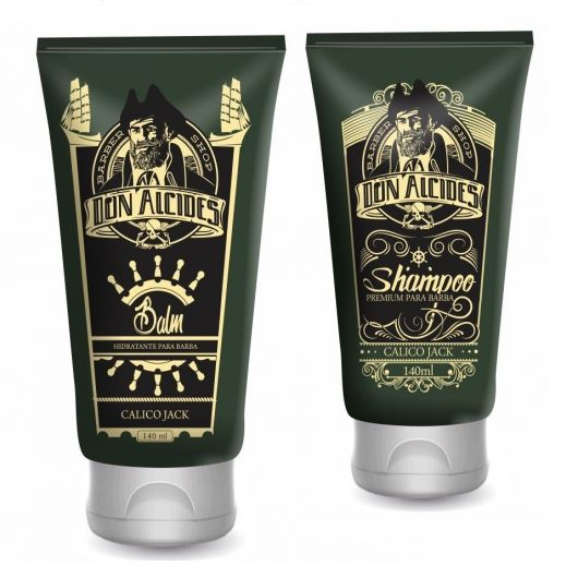 Kit Balm E Shampoo Premium Para Barba Calico Jack - Don Alcides