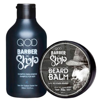 Kit - Balm e Shampoo - QOD Barber Shop