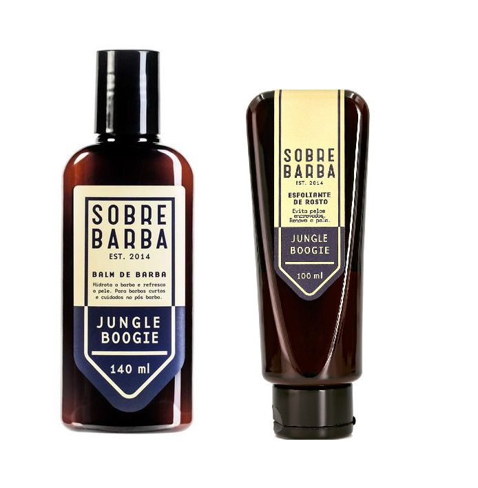 Kit - Balm Para Barba e Esfoliante de Rosto - Jungle Boogie - Sobrebarba