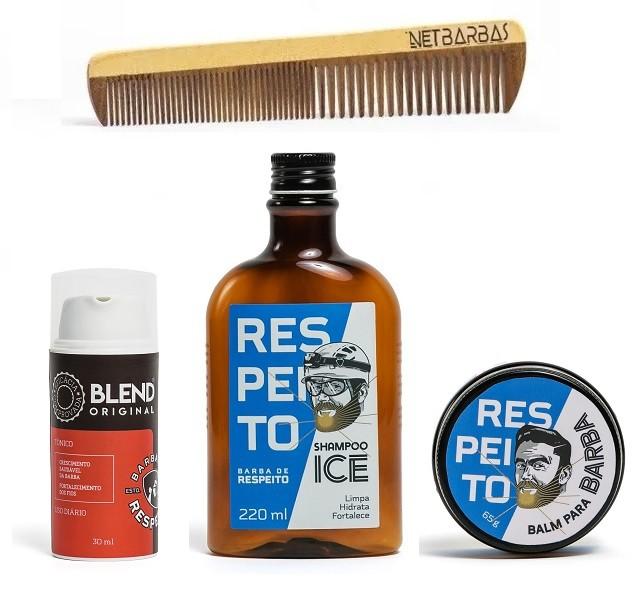 Kit Blend e Estilo Original - Crescimento da Barba - Barba de Respeito