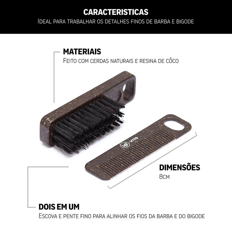Kit - Combo Conjunto Cuidar da Barba - Vito