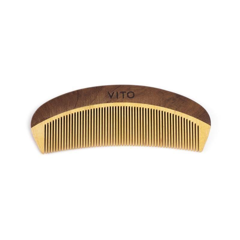 Kit Combo Para Cabelos - Fixação Forte - Shampoo + The Paste + Pente de Madeira - Vito