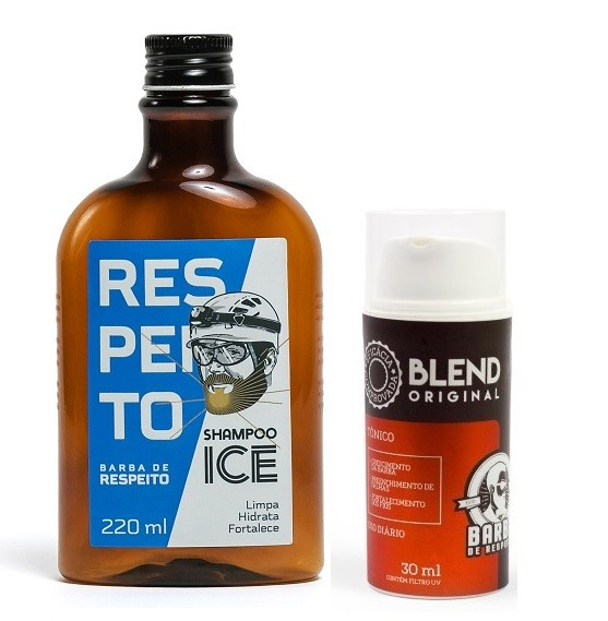 Kit - Crescimento da Barba - Shampoo Ice + Blend - Barba de Respeito