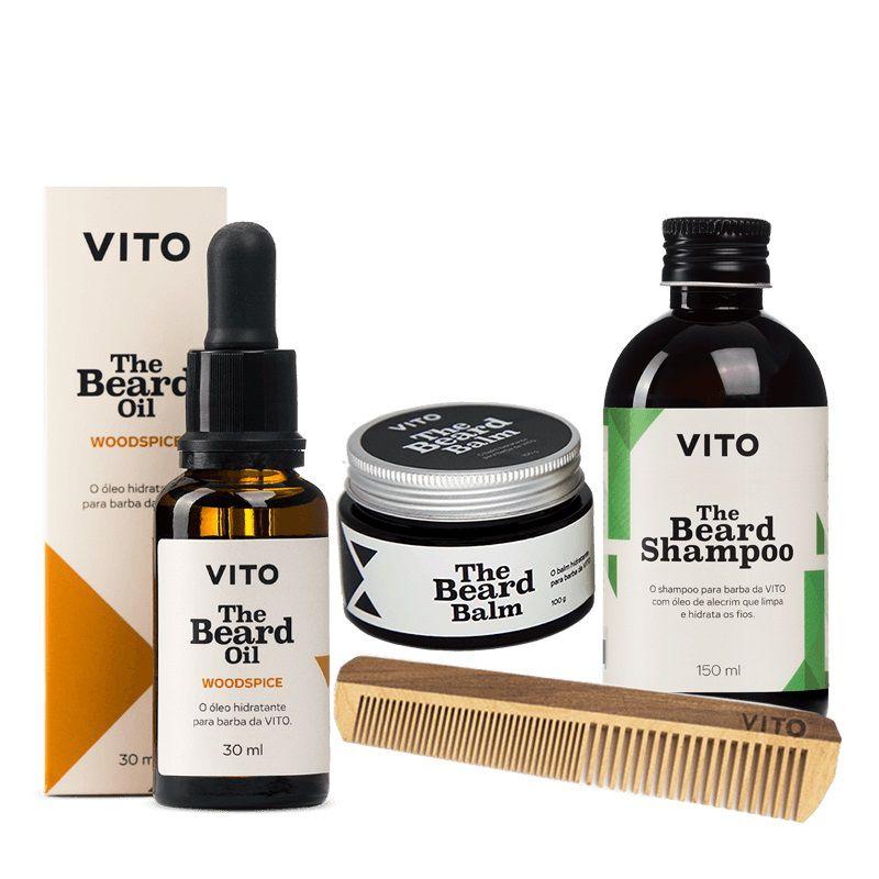 Kit - Cuidar da Barba - Woodspice - Vito
