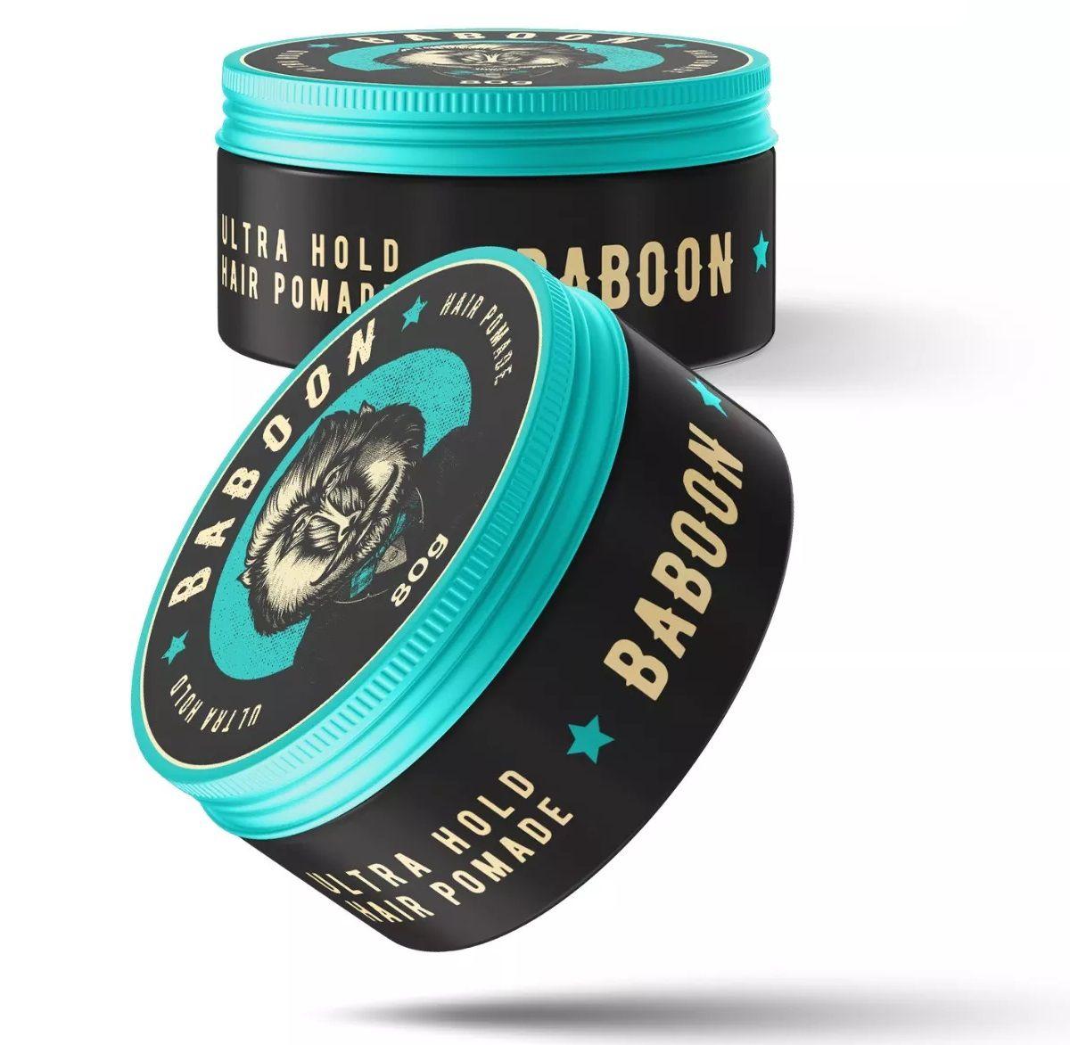 Kit Dupla Pomadas Matte Clay + Ultra Hold  e Spray Fixador  - Baboon