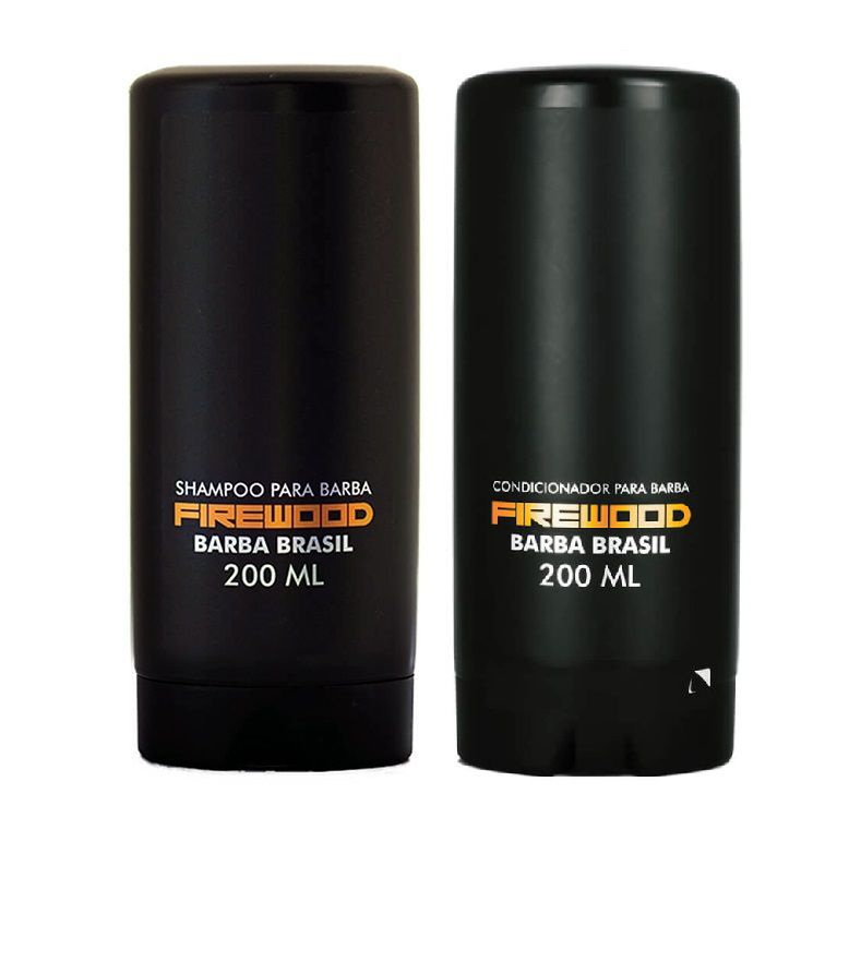 Kit- Shampoo e Condicionador Para Barba - Firewood - Barba Brasil