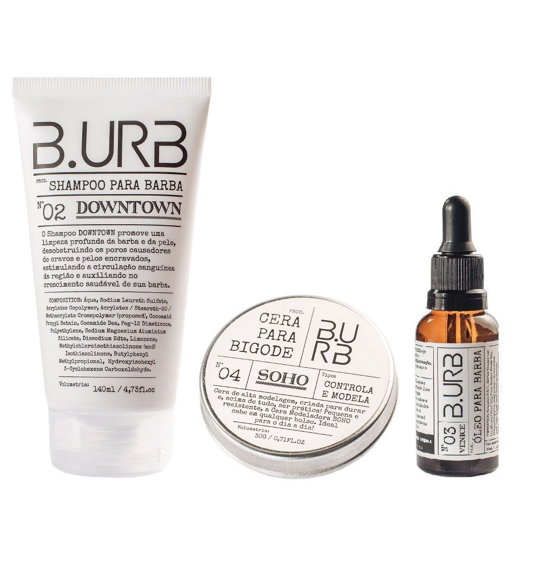 Kit Shampoo Óleo e Cera Para Barba - White - Barba Urbana