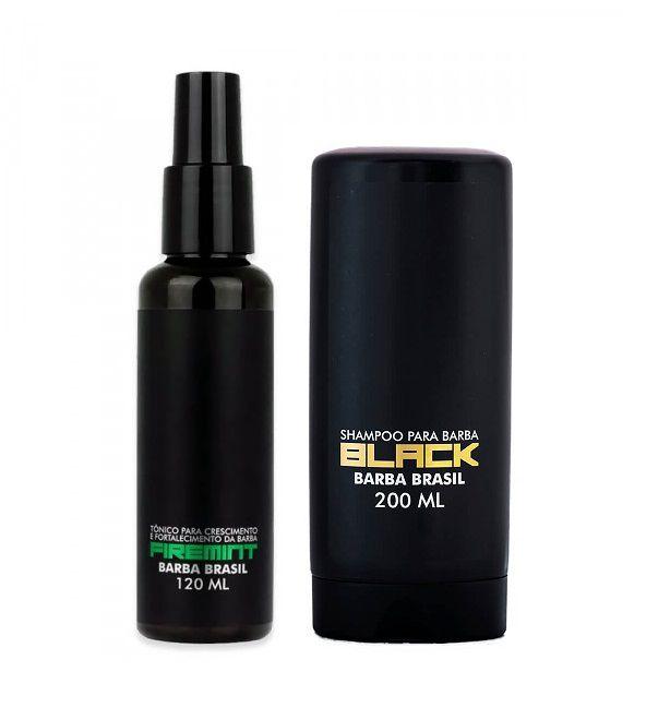Kit - Tônico Para Crescimento Barba e Shampoo - Barba Brasil