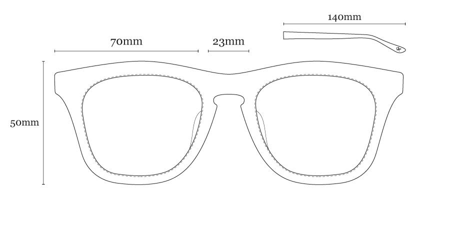 Óculos de Sol LIVO - Jack Preto Cristal