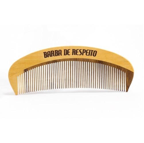 Pente de Madeira - Curvo Original - Barba de Respeito