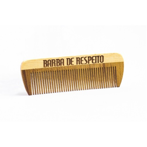 Pente de Madeira - Pente de Bolso - Barba de Respeito