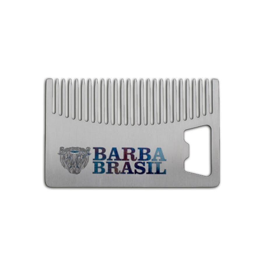 Pente de Metal e Abridor de Garrafas - Barba Brasil