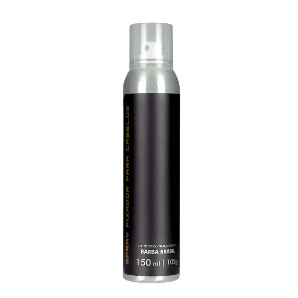 Spray Fixador Para Cabelos - Efeito Forte Seco - Barba Brasil