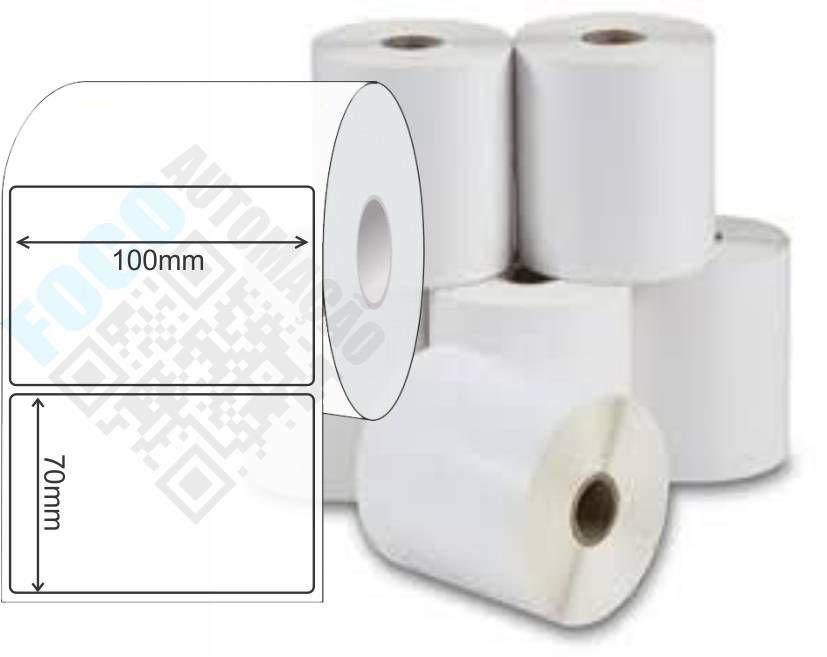Etiqueta Adesiva 100mm X 70mm (4 Rolos c/ 610 un. cada)  - Foco Automação Comercial e Informática