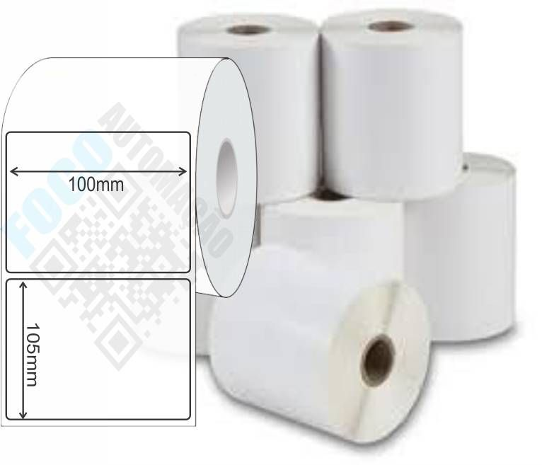Etiqueta Adesiva 100x105 mm (4 Rolos c/ 410 un. cada)