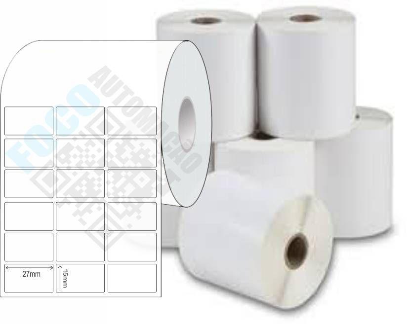 Etiqueta Adesiva 27x15 mm (4 Rolos c/ 7.500 un. cada)