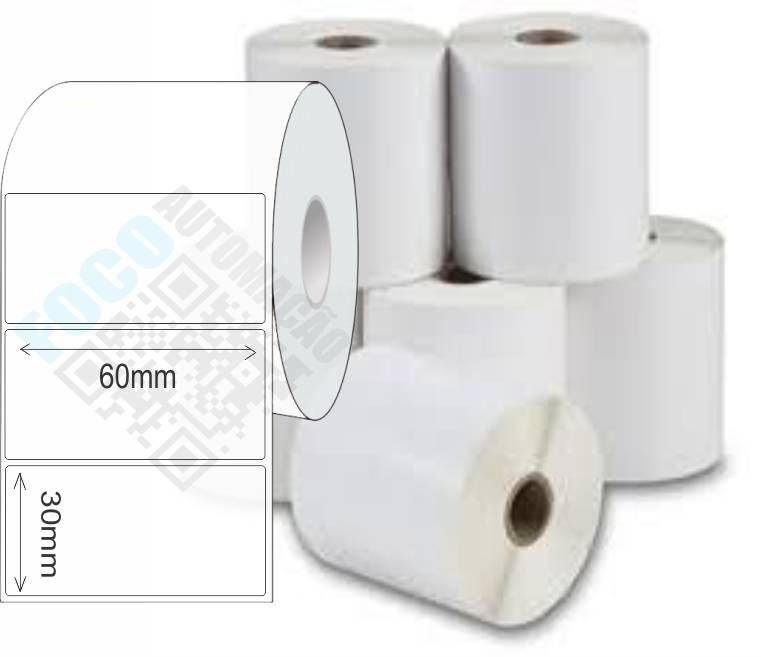 Etiqueta Adesiva 60x30 mm (4 Rolos c/ 1300 un. cada)  - Foco Automação Comercial e Informática
