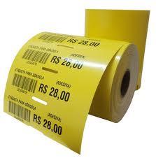 Etiqueta Adesiva Gondola 105x30 mm (4 rolos com 1500 un. cada)  - Foco Automação Comercial e Informática