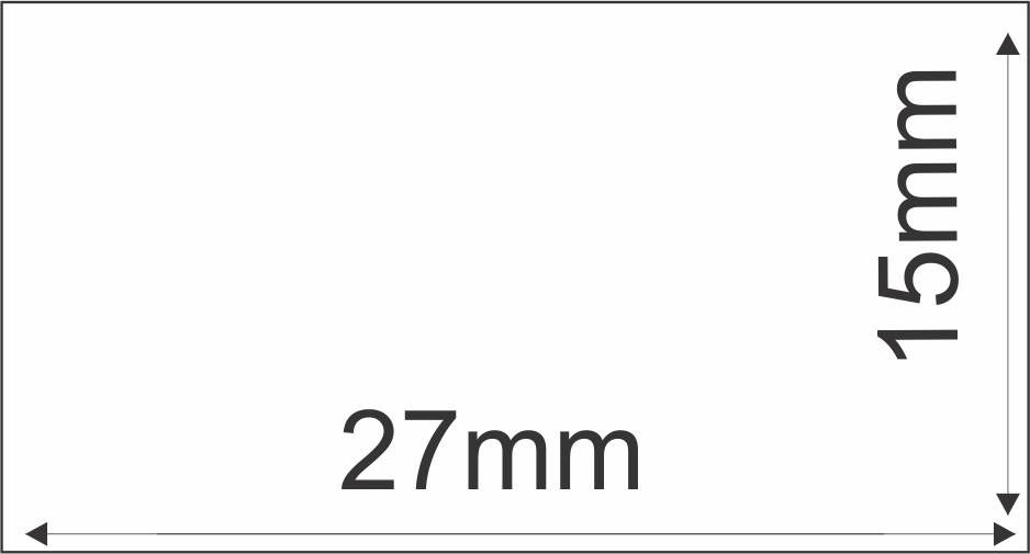 Etiqueta Adesiva Térmica 27mm X 15mm 30m (6 Rolos c/ 3.300 un. cada)  - Foco Automação Comercial e Informática