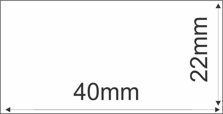 Etiqueta Adesiva Térmica 40x22 mm 30m (6 Rolos c/ 2.400 un. cada)  - Foco Automação Comercial e Informática