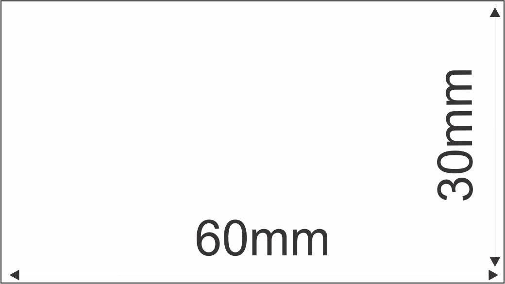 Etiqueta Adesiva Térmica 60mm X 30mm 30m (6 Rolos c/ 900 un. cada)  - Foco Automação Comercial e Informática