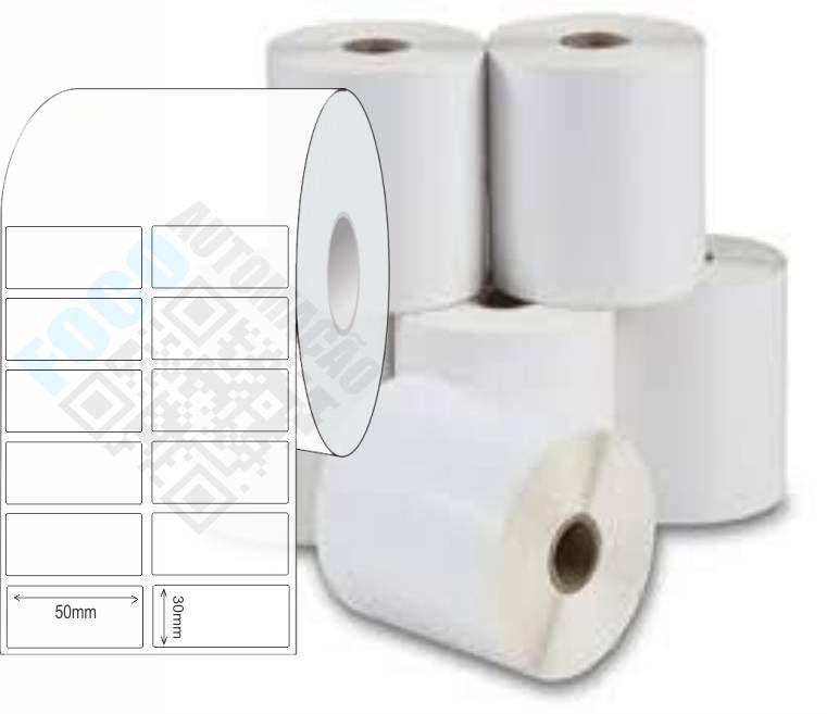 Etiqueta Adesiva 50x30 mm (4 rolos com 2.700 un. cada)