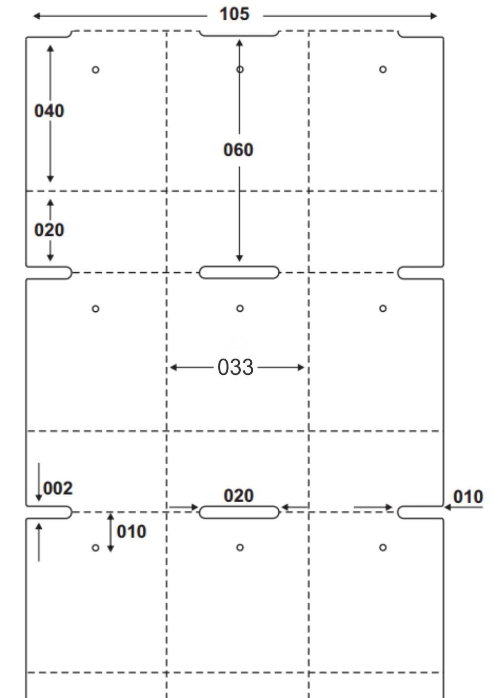 Etiqueta Tag Adesiva Couché 33x60 mm 3 Colunas (4 Rolos c/ 2.100 un. cada)  - Foco Automação Comercial e Informática