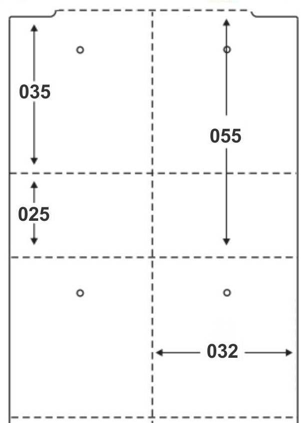 Etiqueta Tag Térmica 32x55 mm 2 Colunas 30m (6 Rolos c/ 1000 un. cada)