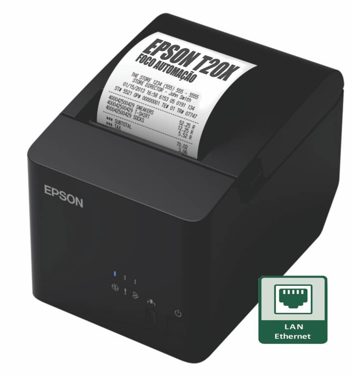 Impressora Térmica Não Fiscal Epson TM-T20X Ethernet (rede)