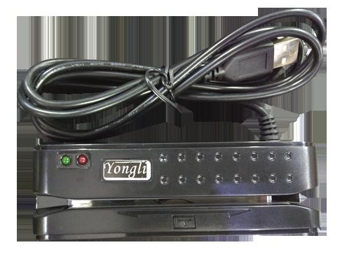 Leitor de Tarja Magnética Yongli Trilha 1 e 2 - (conexão USB)  - Foco Automação Comercial e Informática
