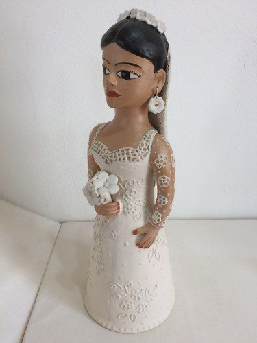 Noiva Jequitinhonha Cerâmica Artesanal Decorativo