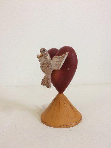 Coração Divino Espírito Santo Madeira Artesanal Decorativo