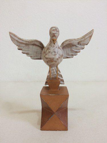 Divino Espírito Santo Pedestal Madeira Artesanal Decorativo