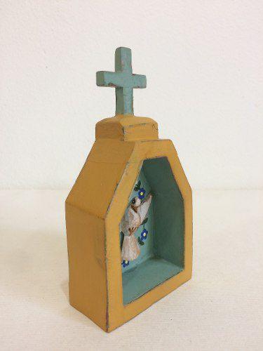 Oratório Madeira Artesanal Decorativo Divino Espírito Santo