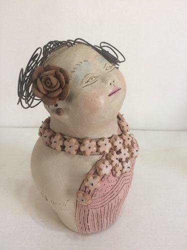 Boneca Cabelo Arame Artesanal Decorativo