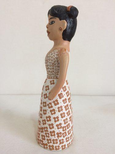 Boneca Jequitinhonha Pequena Cerâmica Artesanal Decorativo