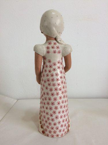 Boneca Gestante Jequitinhonha Cerâmica Artesanal Decorativo