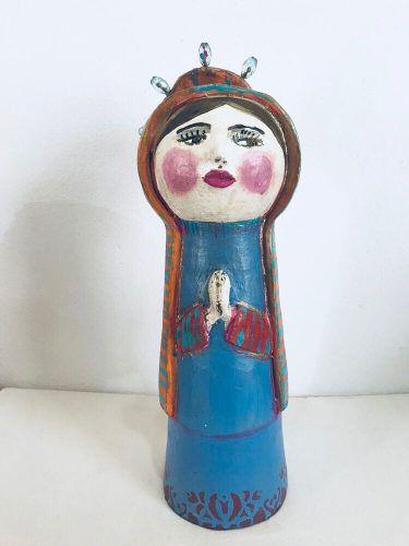 Santa Cerâmica Artesanal Decorativa Arte Popular