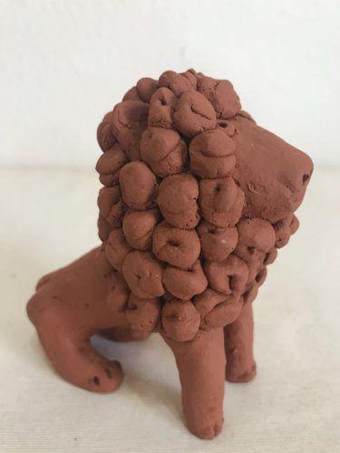 Leão Pequeno Artesanal Decorativo Arte Popular