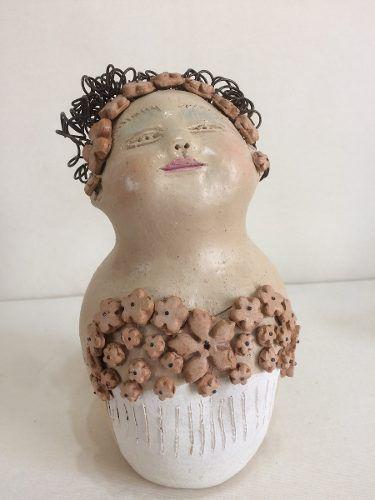 Boneca Cabelo Arame Noiva Artesanal Decorativo
